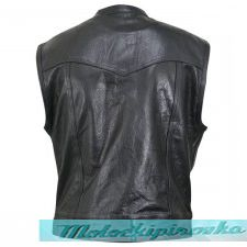 Xelement XS1937 Black Motorcycle Leather Vest