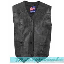 Mens U.S. Marines Leather Vest Officially Licensed Product