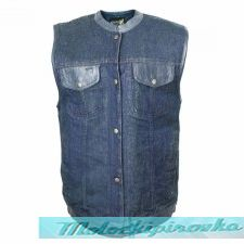 Мотожилет Xelement Mens Blue Denim Mid Collar Gun Pocket Vest