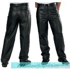 Classic Loose Fit Men's Leather Pants by Xelement