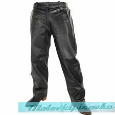 Motorcycle Leather Over Pants w- Side Zipper & Snaps
