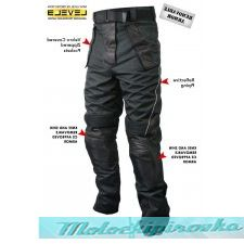 Мотоциклетные штаны Xelement Mens Tri-Tex and Leather Motorcycle Racing Pants with Level-3 Advanced Armor