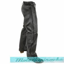 Xelement Premium Leather Motorcycle Over Pants with Side Zipper & Snaps