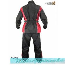 Xelement Mens 2 Piece Black and Red Motorcycle Rainsuit