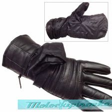 Мужские мотоперчатки Mens Gauntlet Leather Gloves with Rain Cover and Long Cuff