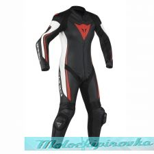 DAINESE ASSEN 1 PC PERF. LADY SUIT - WHITE/BLACK/RED-FLUO комбинезон кож жен 42