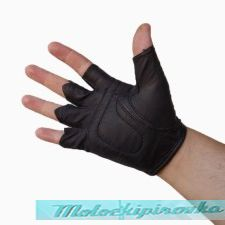 Flaming Eagle Leather Fingerless Gloves