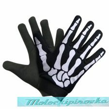 Xelement Mechanical Textile Fabric Skeleton Hand Motorcycle Gloves