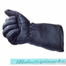 Xelement XG-856 Deerskin Insulated Padded Motorcycle Gauntlet Gloves with Visor Squeegee