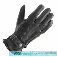 Перчатки мотоциклиста Xelement Womens Classic Button Snap Black Leather Motorcycle Gloves