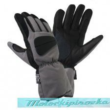 Mens Black and Grey Tri-Tex? Padded-Waterproof Gloves