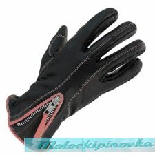 Мотоперчатки Xelement Womens Classic Zippered Black or Pink Leather Motorcycle Gloves