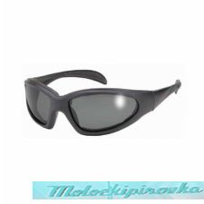 Chopper Black Sunglasses With Polarized Grey Lens And UV 400 Protection with Padded Frame