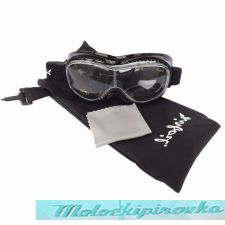 Airfoil Black Goggles With Anti Fog Clear Polycarbonate Lens With UV 400 Protection