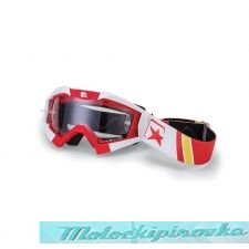 ARIETE Очки для шлема MX GOGGLES RIDING CROWS BASIC RED- WHITE