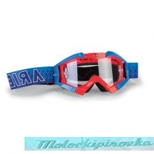 ARIETE Очки для шлема MX GOGGLES RIDING CROWS TOP FLUO RED-LIGHT BLUE