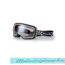 ARIETE Очки для шлема FEATHER GOGGLES -BLACK-CHEQUERED STRAP