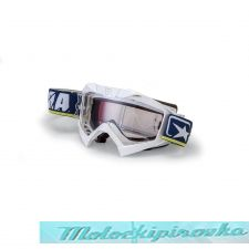 ARIETE Очки для шлема MX GOGGLES ADRENALINE PROFI WHITE- BLUE