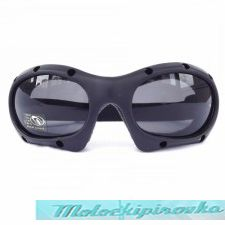 Black Dominator Goggles With Polycarbonate Smoke Lens With UV 400 Protection
