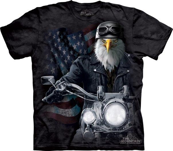 3D футболка the mountain орел